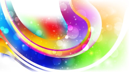 Abstract Colorful Lights Background Design