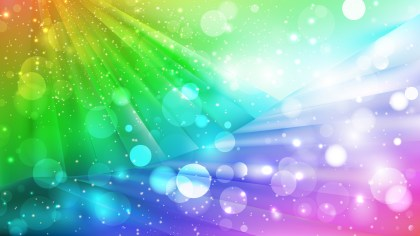 Abstract Colorful Defocused Lights Background Design