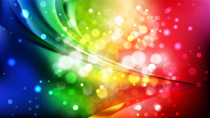 Abstract Colorful Bokeh Defocused Lights Background Vector