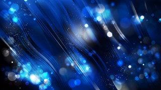 Abstract Cool Blue Bokeh Lights Background Design