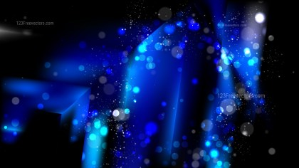 Abstract Cool Blue Defocused Background Design