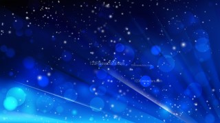 Abstract Cool Blue Blurry Lights Background