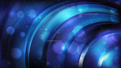 Abstract Cool Blue Defocused Lights Background Vector