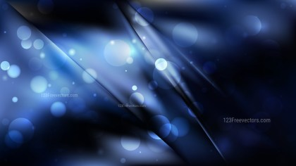Abstract Cool Blue Bokeh Lights Background Vector