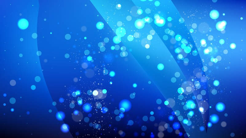 Abstract Cool Blue Blurred Lights Background Vector