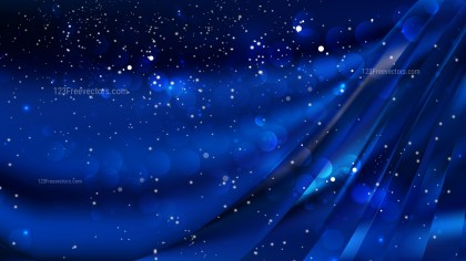 Abstract Cool Blue Blur Lights Background Vector