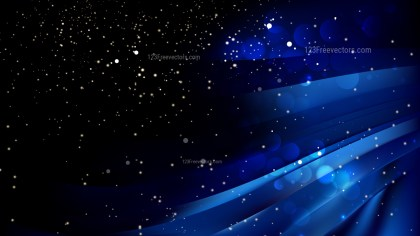 Abstract Cool Blue Blurred Bokeh Background Vector