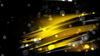 Abstract Cool Gold Bokeh Background Design
