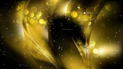 Abstract Cool Gold Bokeh Defocused Lights Background Design