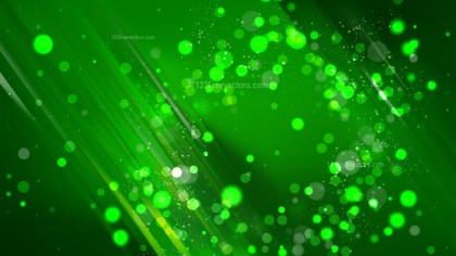 Abstract Cool Green Bokeh Lights Background Design