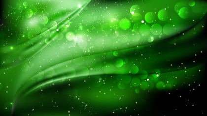 Abstract Cool Green Defocused Background Design