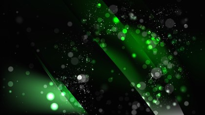 Abstract Cool Green Defocused Lights Background Design