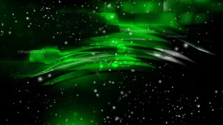 Abstract Cool Green Blurred Bokeh Background Design