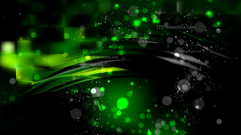 Abstract Cool Green Blurred Bokeh Background