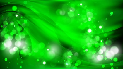 Abstract Cool Green Bokeh Defocused Lights Background