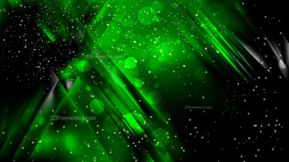 Abstract Cool Green Bokeh Lights Background