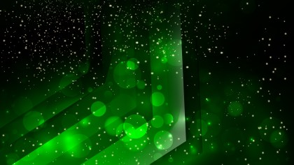 Abstract Cool Green Blur Lights Background
