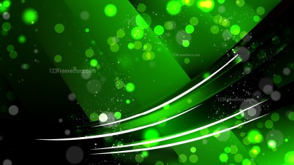 Abstract Cool Green Lights Background
