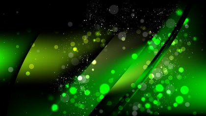 Abstract Cool Green Defocused Lights Background