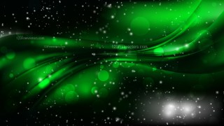 Abstract Cool Green Blurred Bokeh Background Vector