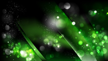 Abstract Cool Green Bokeh Background Vector