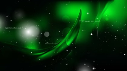 Abstract Cool Green Defocused Lights Background Vector
