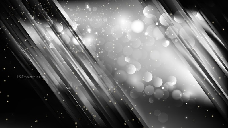 Abstract Cool Grey Blurred Bokeh Background Vector