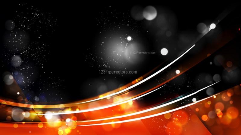 Abstract Cool Orange Defocused Lights Background Image