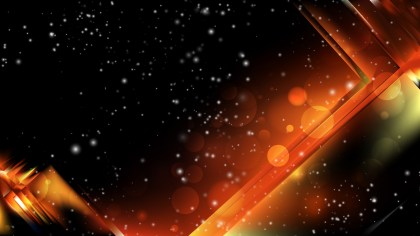 Abstract Cool Orange Blurred Bokeh Background Image