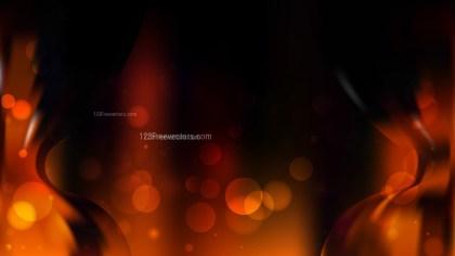 Abstract Cool Orange Bokeh Defocused Lights Background Image