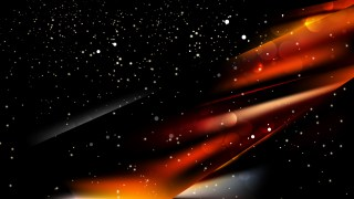 Abstract Cool Orange Blurred Lights Background Image