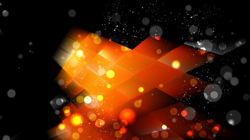 Abstract Cool Orange Blur Lights Background Image