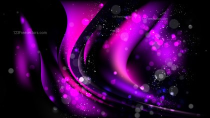 Abstract Cool Purple Defocused Lights Background Vector