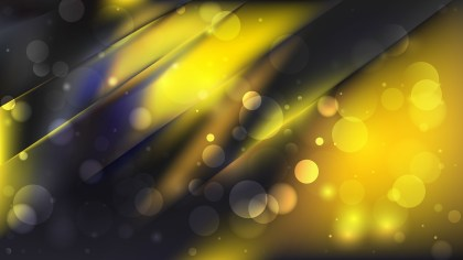 Abstract Cool Yellow Bokeh Background Image
