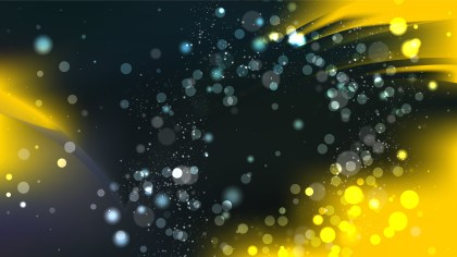 Abstract Cool Yellow Bokeh Lights Background Image