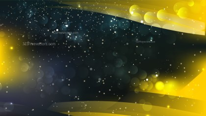 Abstract Cool Yellow Blurry Lights Background Image