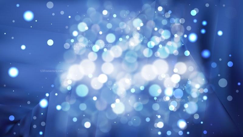 Abstract Dark Blue Blur Lights Background