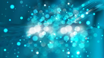 Abstract Dark Blue Bokeh Background Image