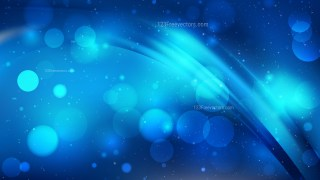 Abstract Dark Blue Bokeh Lights Background