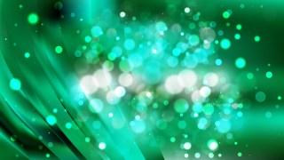 Abstract Dark Green Blurred Bokeh Background Vector