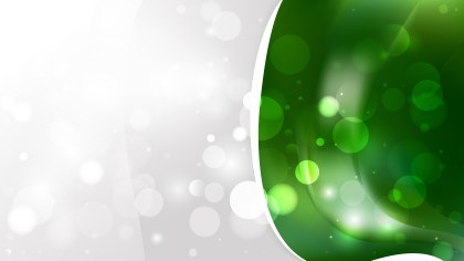 Abstract Dark Green Blurred Lights Background Image