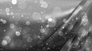 Abstract Dark Grey Bokeh Lights Background