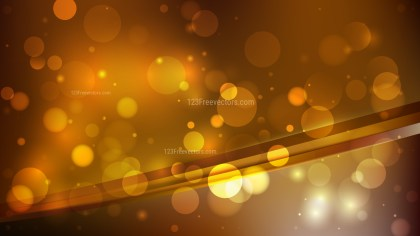 Abstract Dark Orange Blurred Bokeh Background Vector