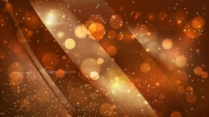 Abstract Dark Orange Bokeh Defocused Lights Background Vector