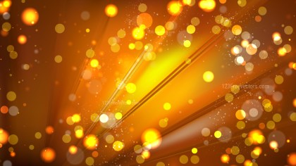 Abstract Dark Orange Blurred Lights Background Design