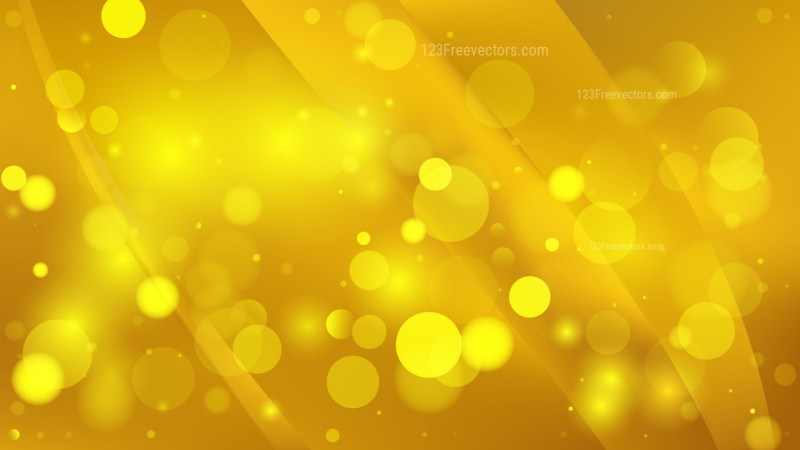 Abstract Gold Blurred Lights Background