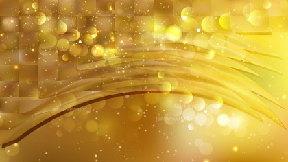 Abstract Gold Blur Lights Background Vector
