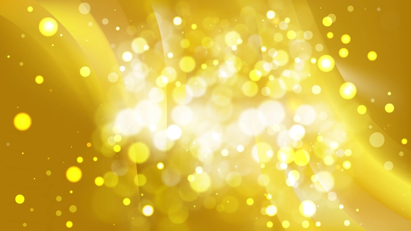 Abstract Gold Blurred Bokeh Background Image