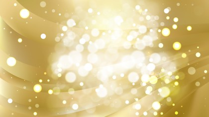 Abstract Gold Blurry Lights Background Design