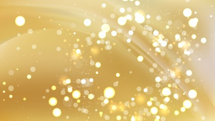 Abstract Gold Bokeh Lights Background Image